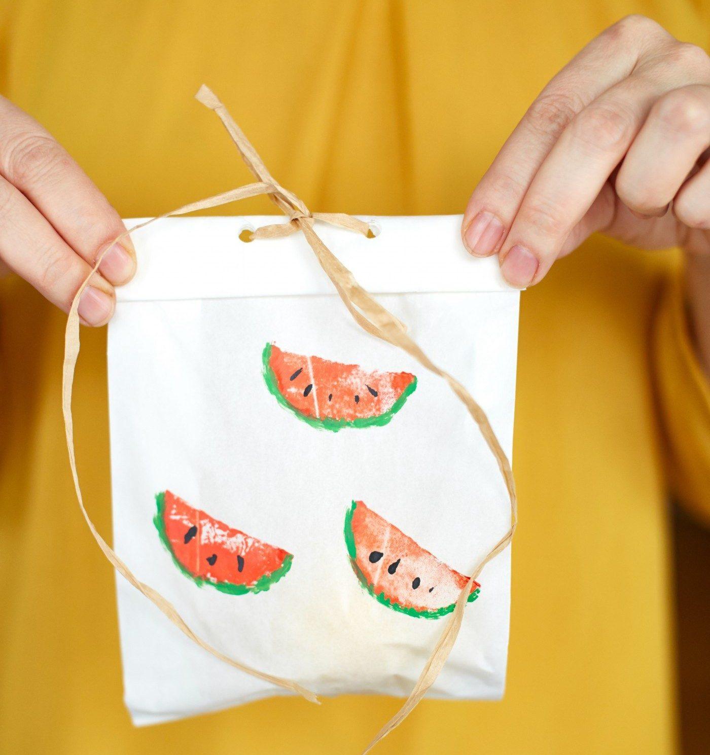 Arbūzai dekoruotas maišelis