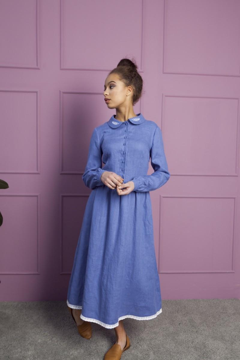 Lino suknelė