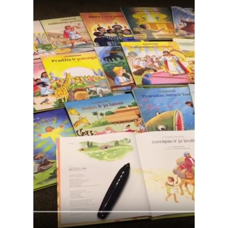 Įgarsinta 18 knygų religinė bibliotekėlė